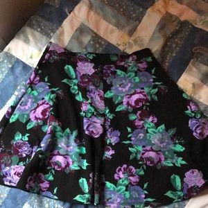 Dresses & Skirts - Flower print skater skirt